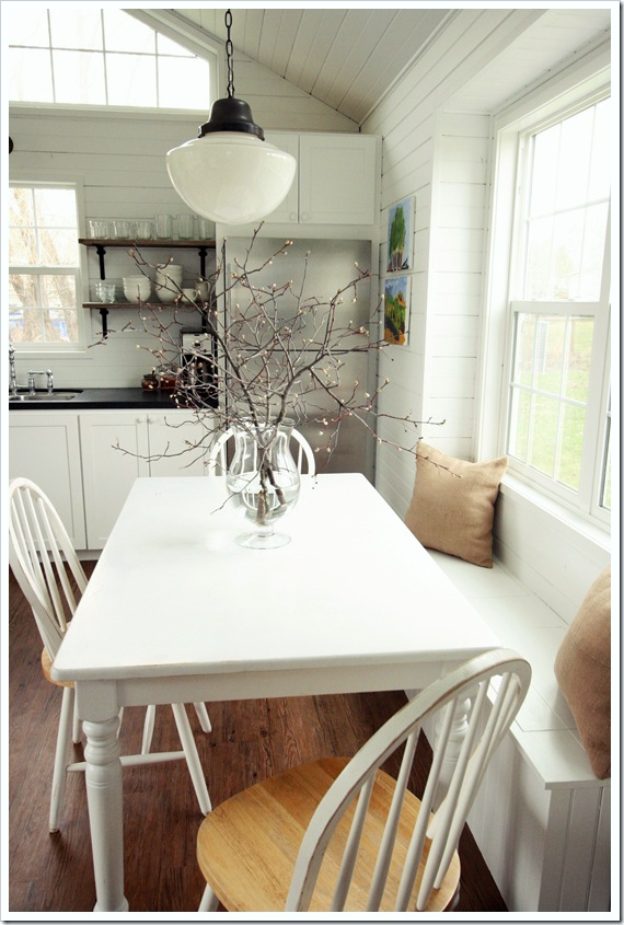 Best The banquette beneath the window at the dining table serves as seating storage and with throw pillows it us also a favorite spot for lounging